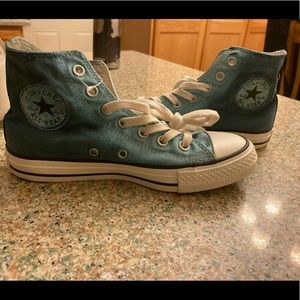 Brand New turquoise ombré high top converse